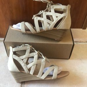 NWT Caged wedges by CityClassified